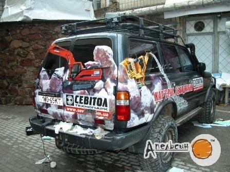 Поклейка рекламы на автотранспорт