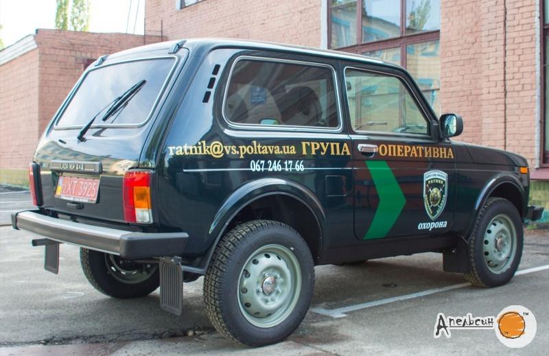 Поклейка служебного авто