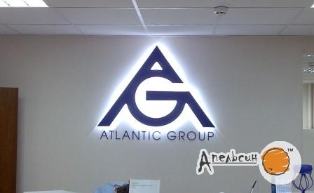 Логотип с контражюрной подсветкой светодиодами